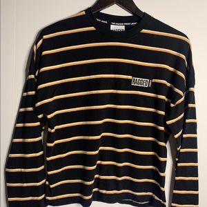 Regged Jeans Women's Striped T shirt Size XS